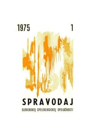 Spravodaj sss 1975 1 by Slovenská Speleologická Spoločnosť - issuu c20e52801ee