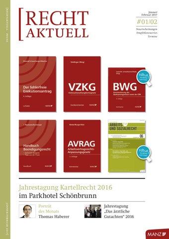 Rechtaktuell Jännerfebruar 2017 By Manzsche Verlags U