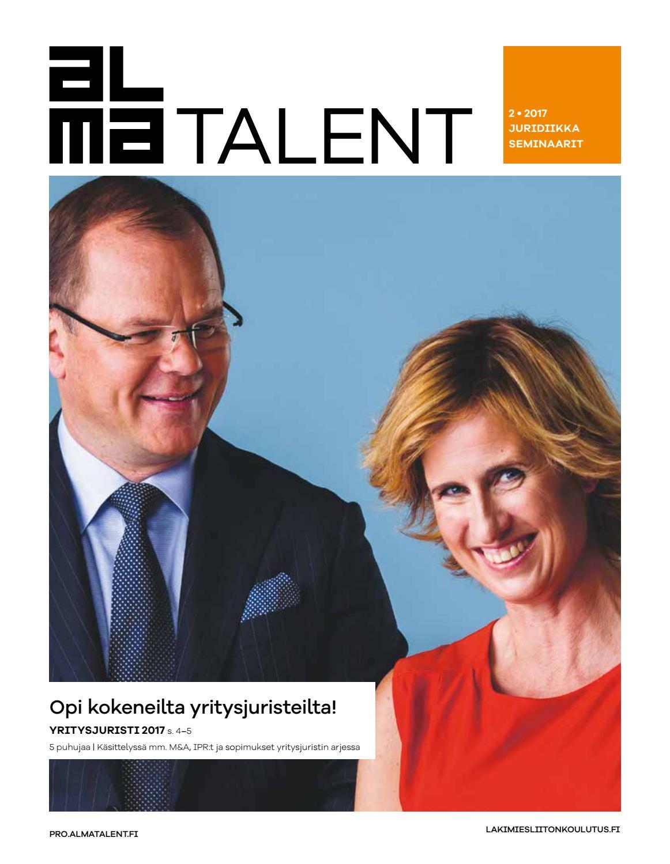 Alma Talent Pro, juridiikka 2/2017 by Alma Talent - Issuu