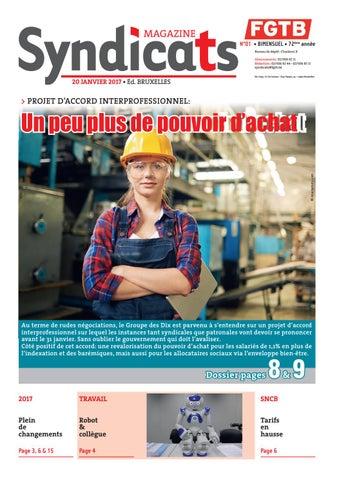 N°01 • BIMENSUEL • 72ème année Bureau de dépôt   Charleroi X Abonnements    02 506 82 11 Rédaction   02 506 82 44 - 02 506 83 11 syndicats fgtb.be 5ce59eacf11