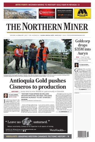 165 Niocorp Appoints Mr Mark A Smith  >> The Northern Miner January 23 2017 Issue By The Northern Miner Group