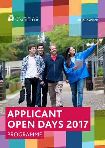 Applicant Open Day Programme 2017 by University of Winchester - issuu