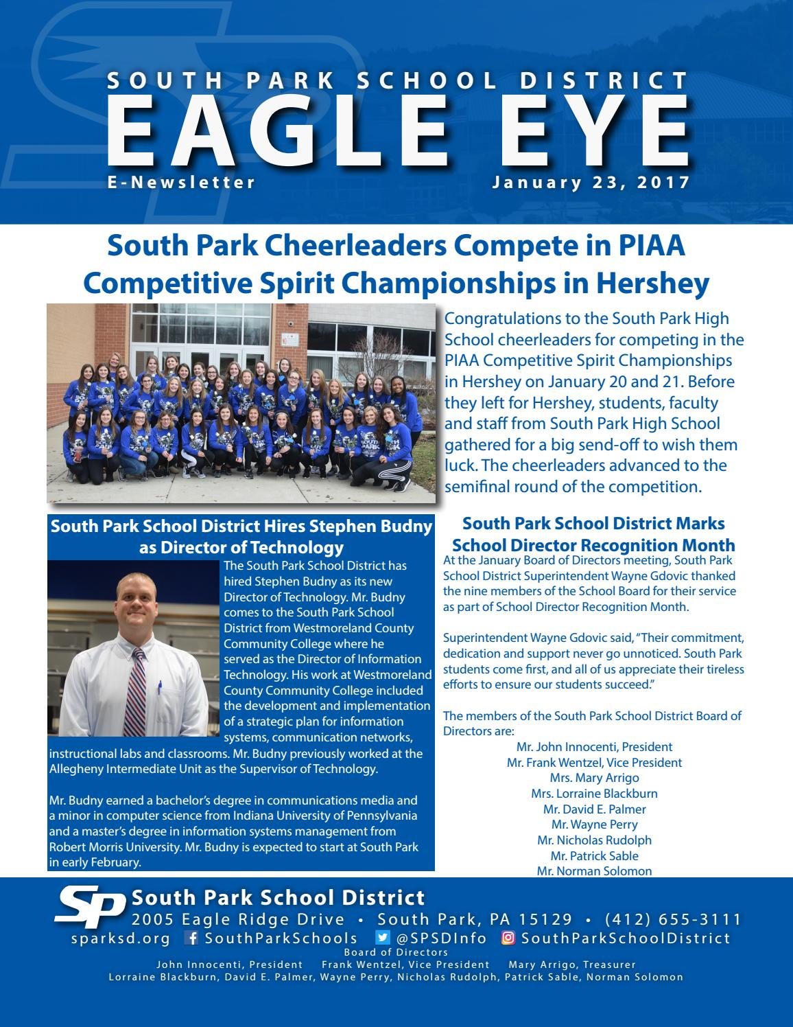 Eagle Eye E-Newsletter- 1-23-17 by South Park School District - issuu