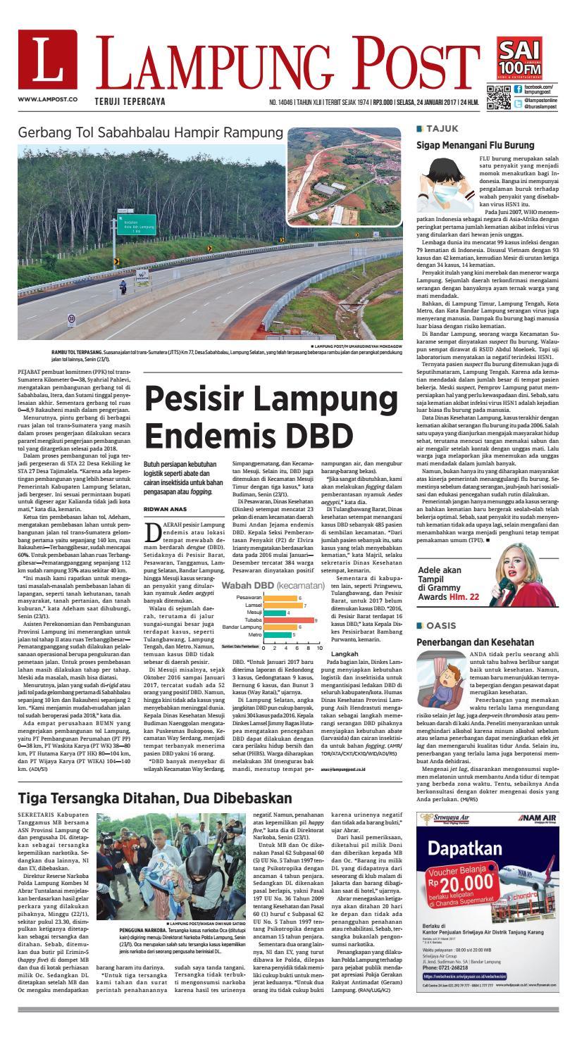 Lampung Post Selasa 24 Januari 2017 By Lampung Post Issuu