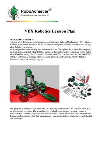Vex robotics lesson plan (modified 12 13 16) by Donald Bertrand - issuu