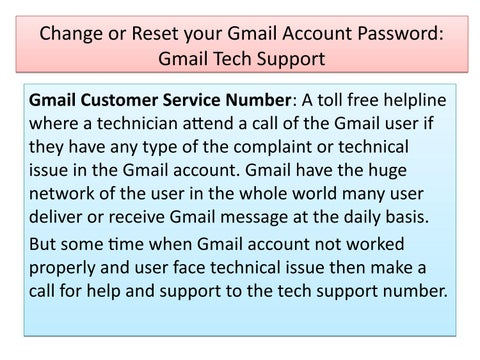 Recover your Forgot Gmail Password: Gmail Customer Service