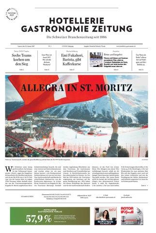 HG Zeitung 2 2017 By Hotellerie Gastronomie Verlag