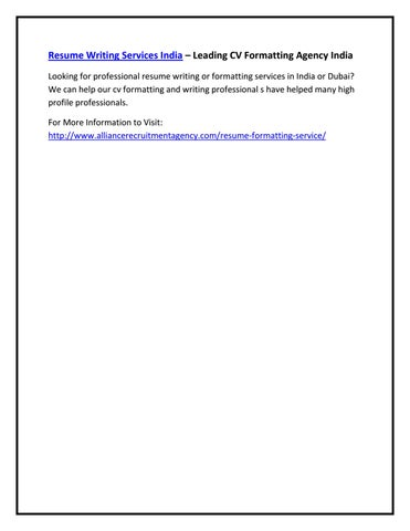 resume writing services india leading cv formatting agency india