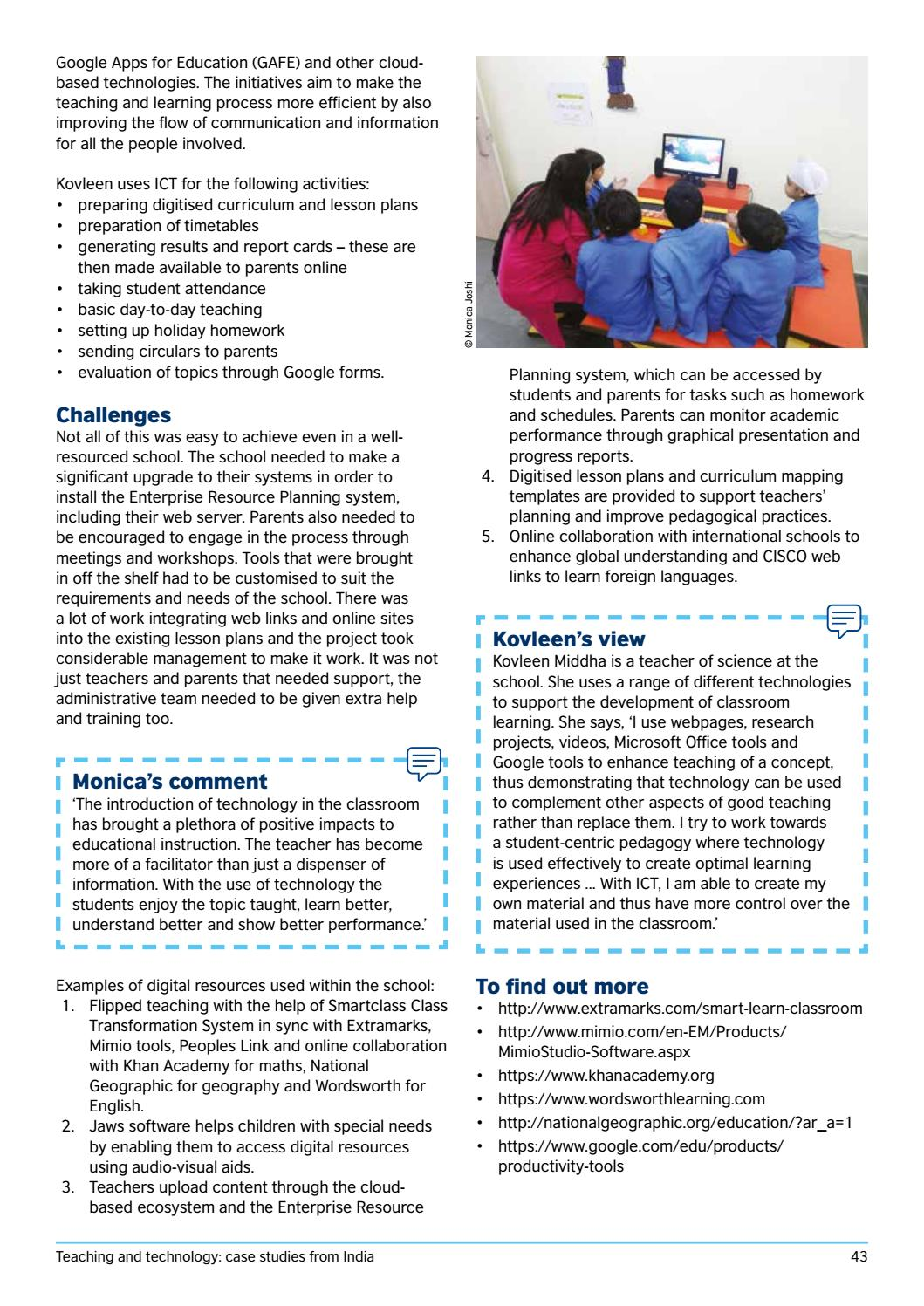 Teaching and technology case studies from India by British Council ...