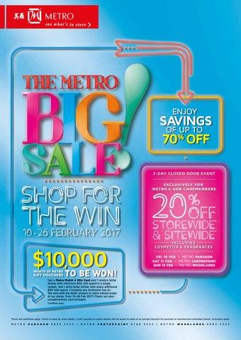 The Metro Big Sale Feb By Metrosingapore Issuu - 26 feb