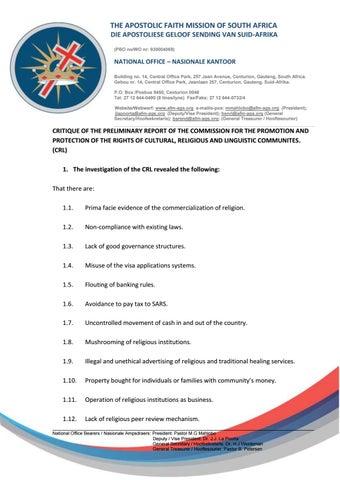 24 January by The Apostolic Faith Mission of SA - issuu