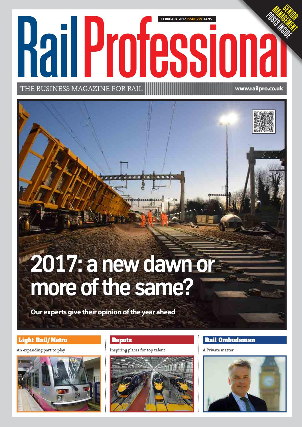 Rail Professional February 2017 By Magazine Issuu Garden Railway Sensors