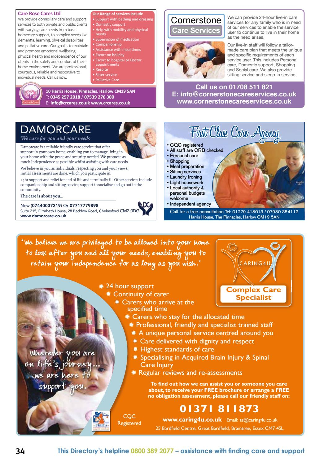 Essex and Southend-on-Sea Care Services Directory 2017 by ...