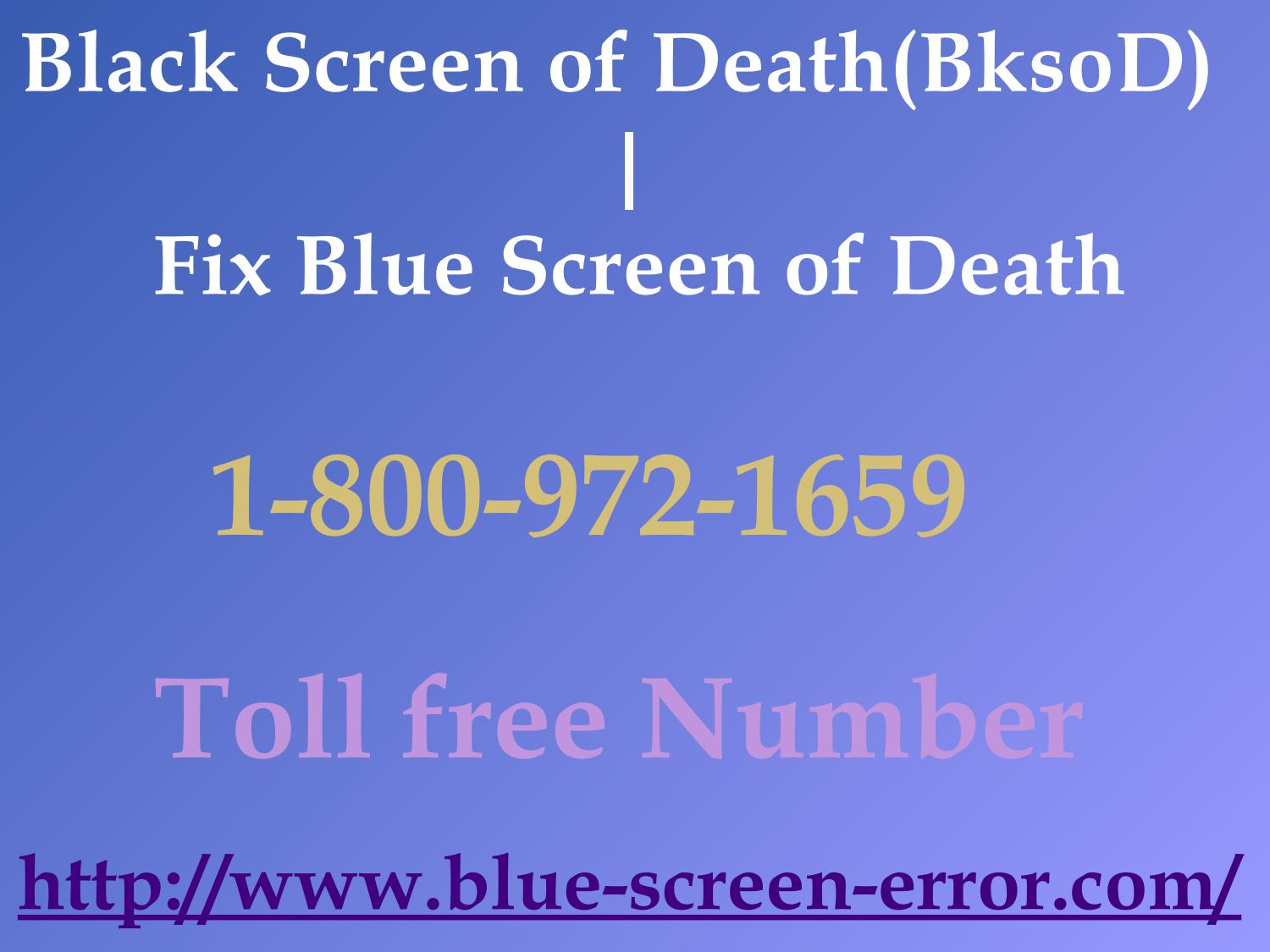 Ways To 1-800-972-1659 Fix Windows 10 Blue Screen Of Death