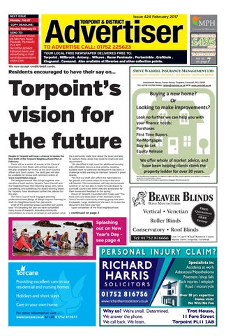 NEXT ISSUE Monday Feb 27 COPY DEADLINE: Monday February 13 SEND TO: Cornerstone Vision 28 Old Park Road Peverell, Plymouth PL3 4PY Tel 01752 225623 ...