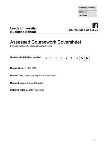 lubs assessed coursework coversheet