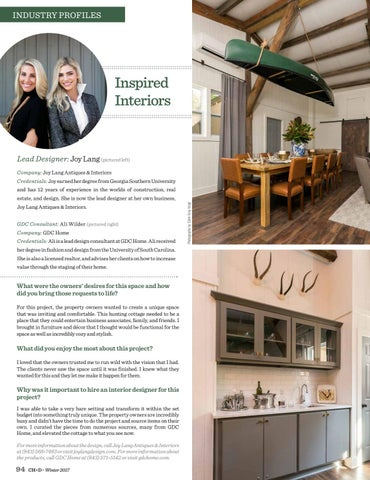 Page 94. INDUSTRY PROFILES. Inspired Interiors