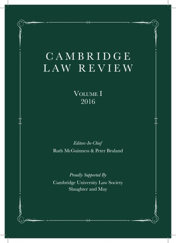1a88c1b1f4a Cambridge Law Review (Vol.1) 2016 by Cam Law Rev - issuu
