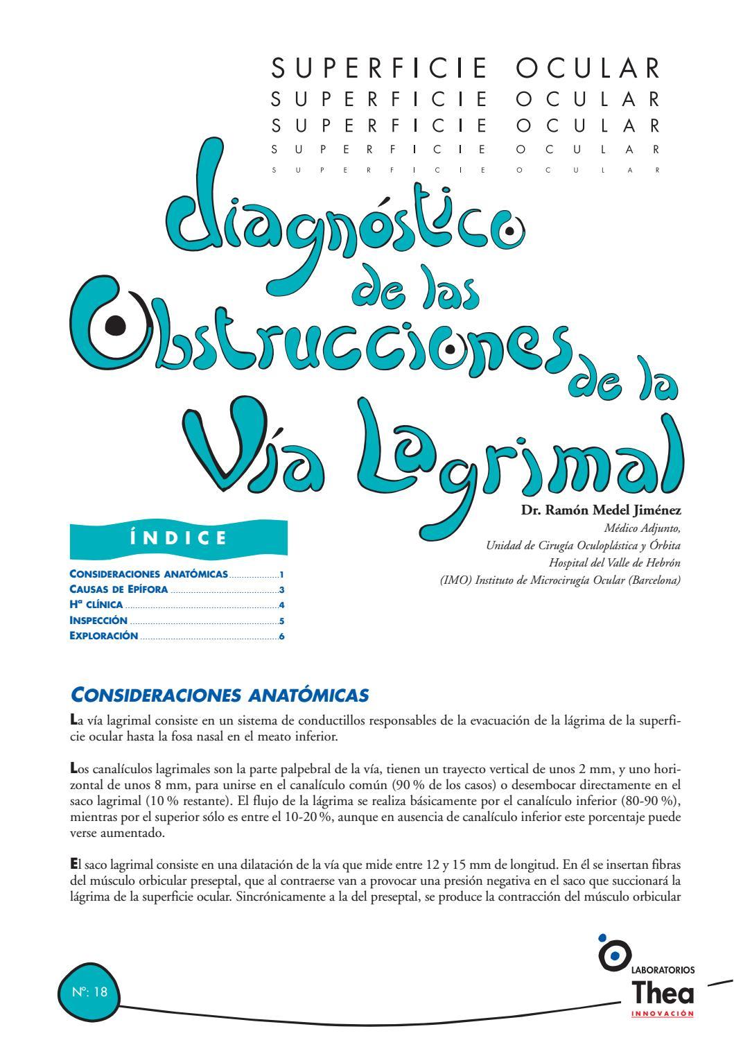 Diagnostico de las obstrucciones de la via lagrimal by Sāng Dé Luó ...