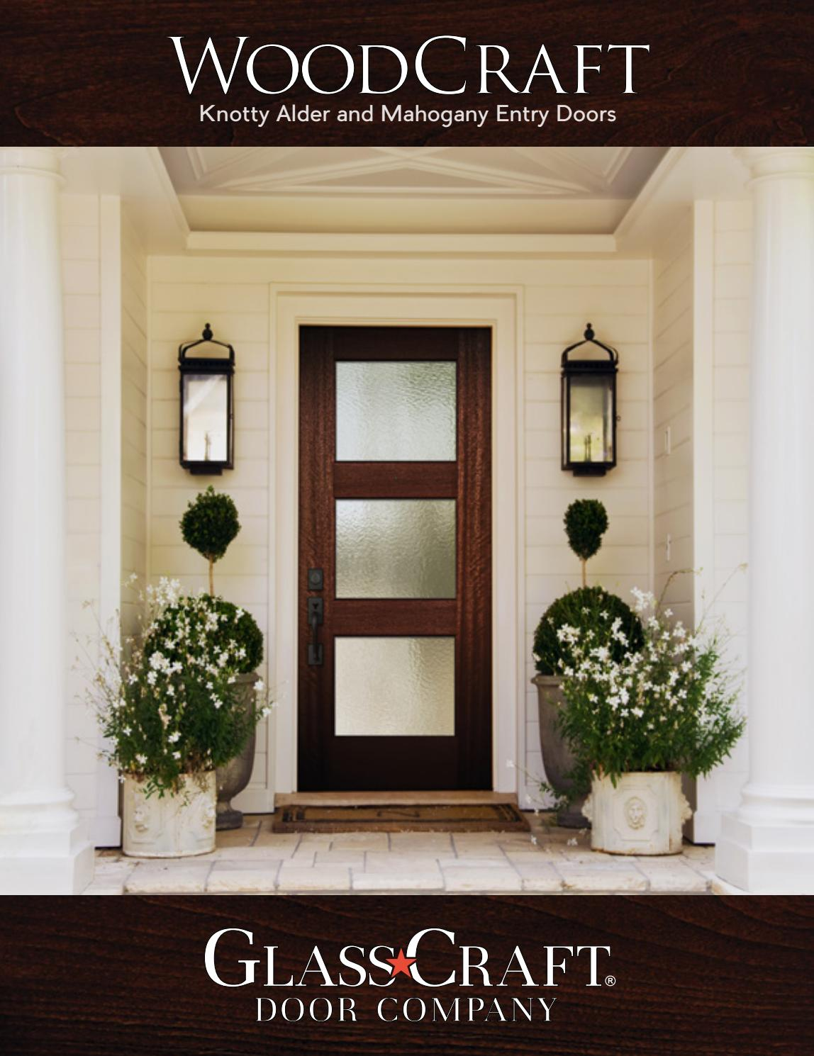 WoodCraft Mahogany U0026 Knotty Alder Entry Doors Catalog By GlassCraft   Issuu