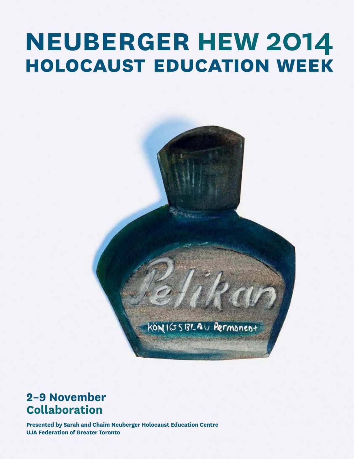 Neuberger HEW 2014 Program Guide By Holocaust Education Week
