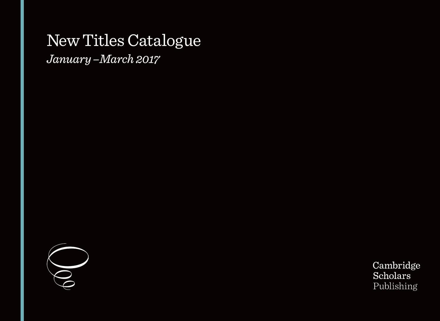 Csp catalogue january march 2017 by SCIENTIFIC BOOKS