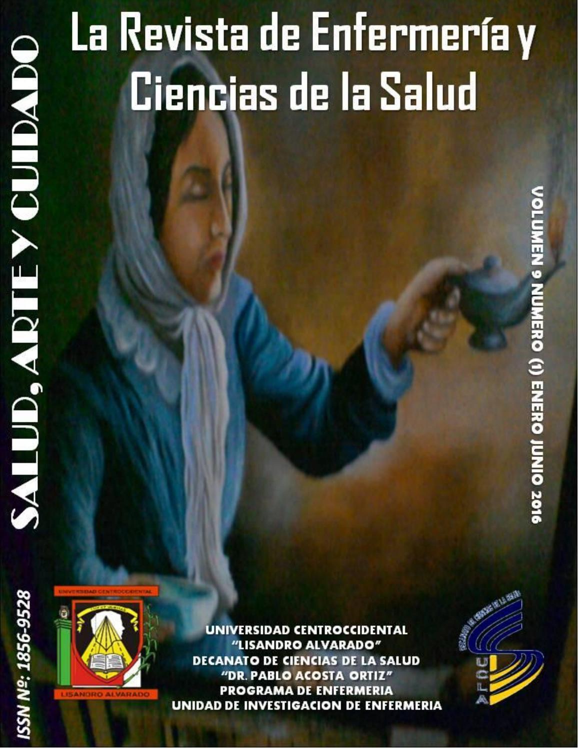 Salud, arte y cuidado vol 9 (1) enero junio 2016 by SALUD, ARTE Y ...