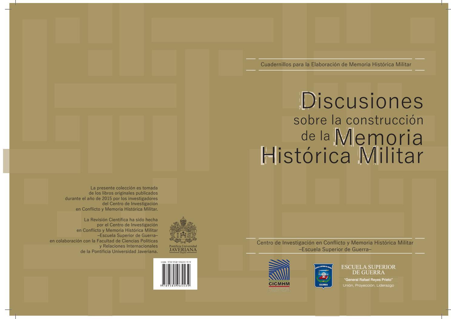 Discuciones Sobre la Construccion de Memoria Historica Militar by ...