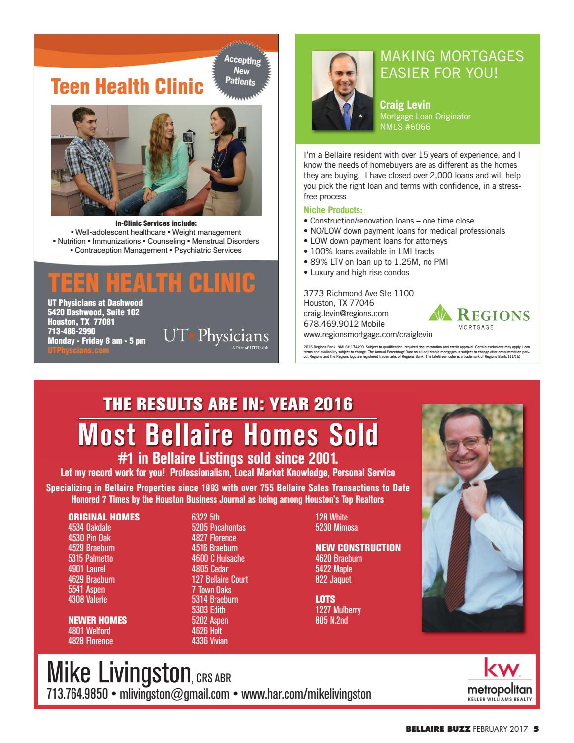 The Bellaire Buzz - February 2017 by The Buzz Magazines - issuu