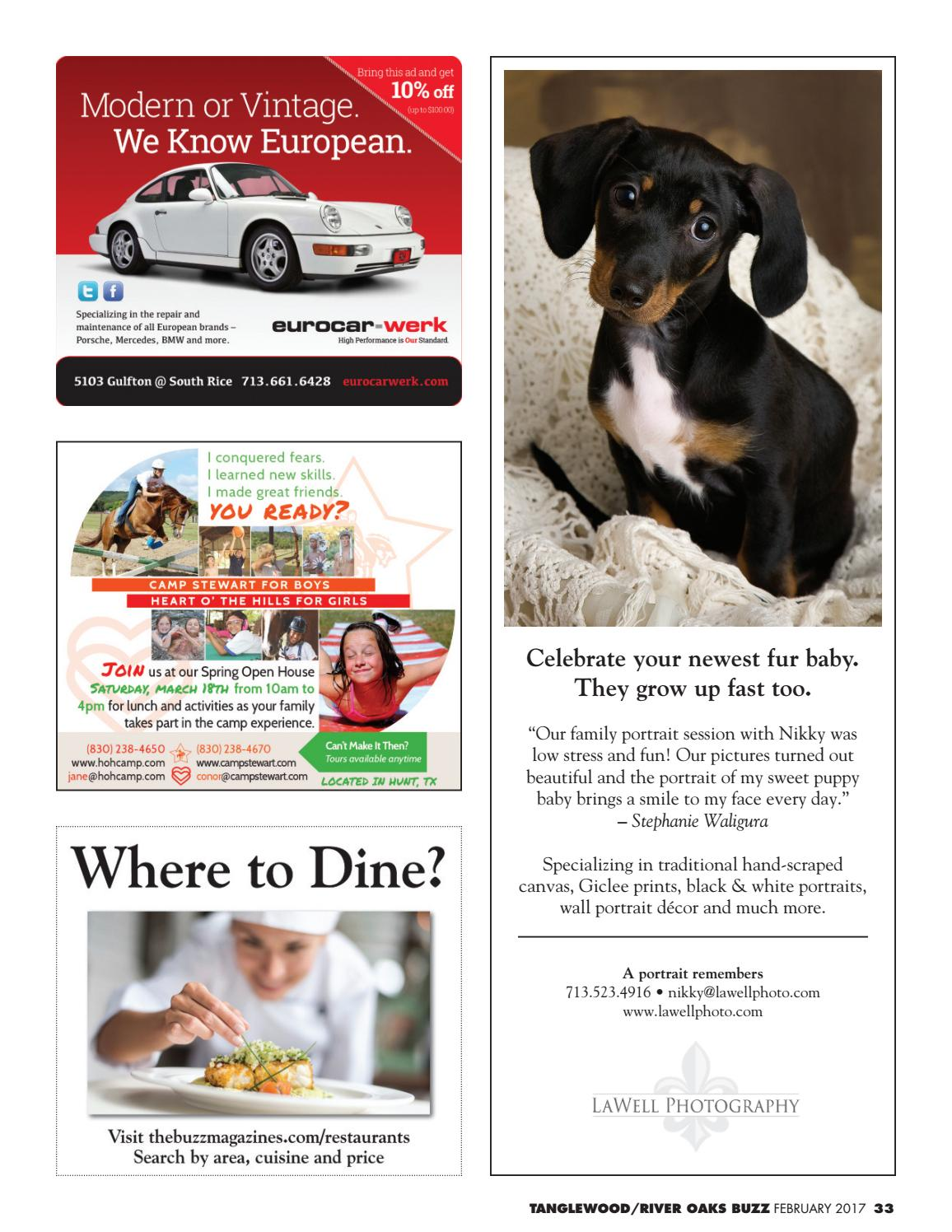 The Tanglewood River Oaks Buzz February 2017 By The Buzz Magazines