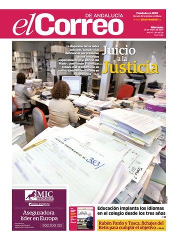 bd20d798a8257 25 01 2017 El Correo de Andalucía by EL CORREO DE ANDALUCÍA S.L. - issuu