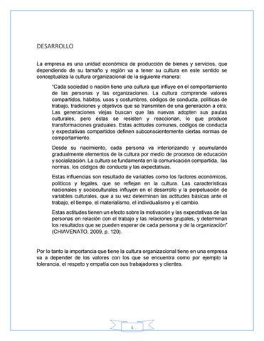 ENSAYO CULTURA ORGANIZACIONAL // Marco Villa by Marco Villa - issuu
