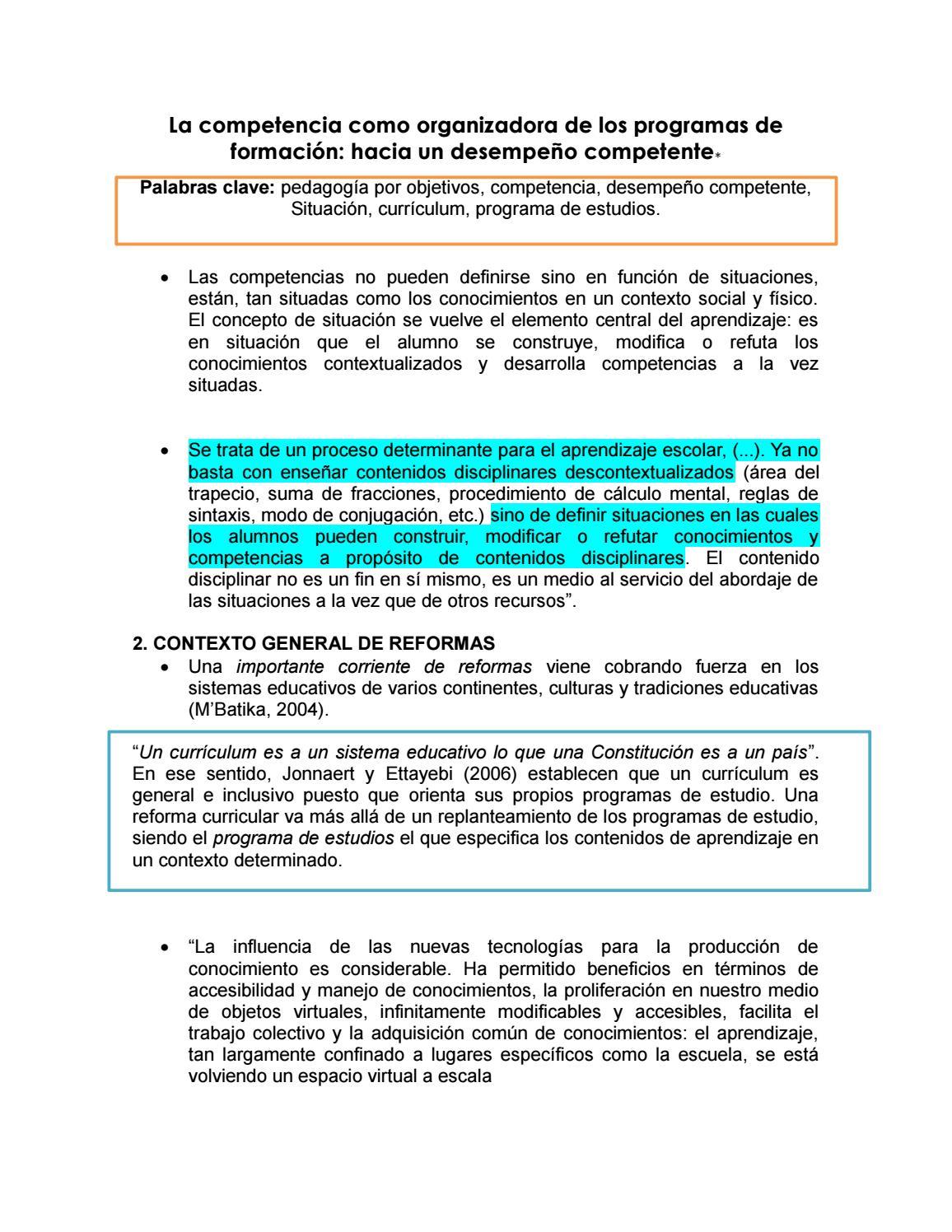 7 la competencia como organizadora de los programas de formación by ...