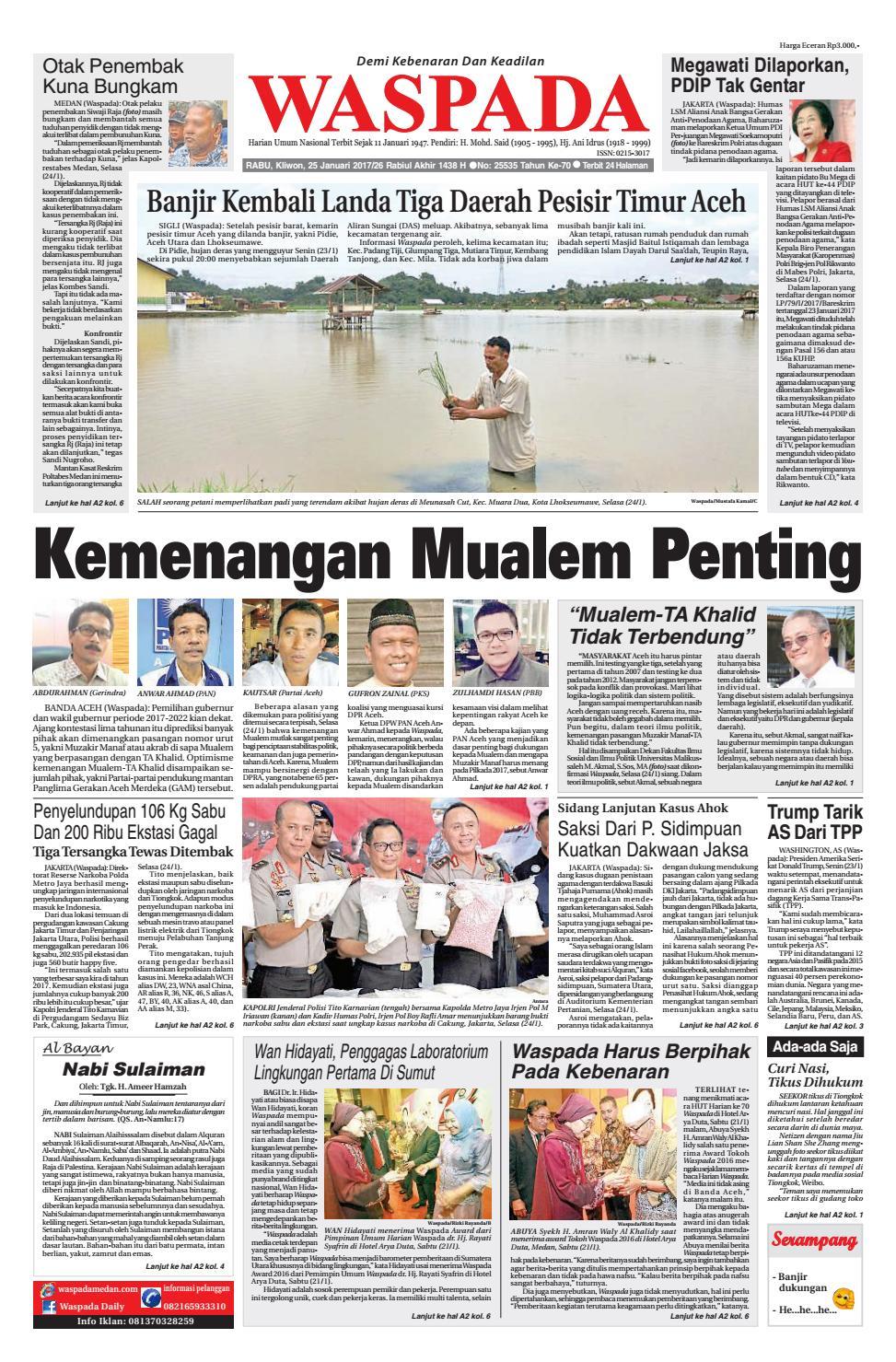 Waspada Rabu 25 Januari 2017 By Harian Issuu Produk Ukm Bumn Tas Ransel Threepoint