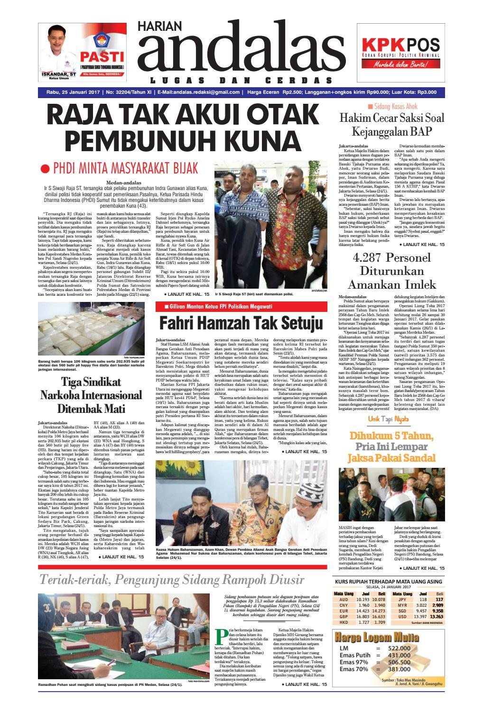 Epaper andalas edisi rabu 25 januari 2016 by media andalas - issuu c3fb6fabde