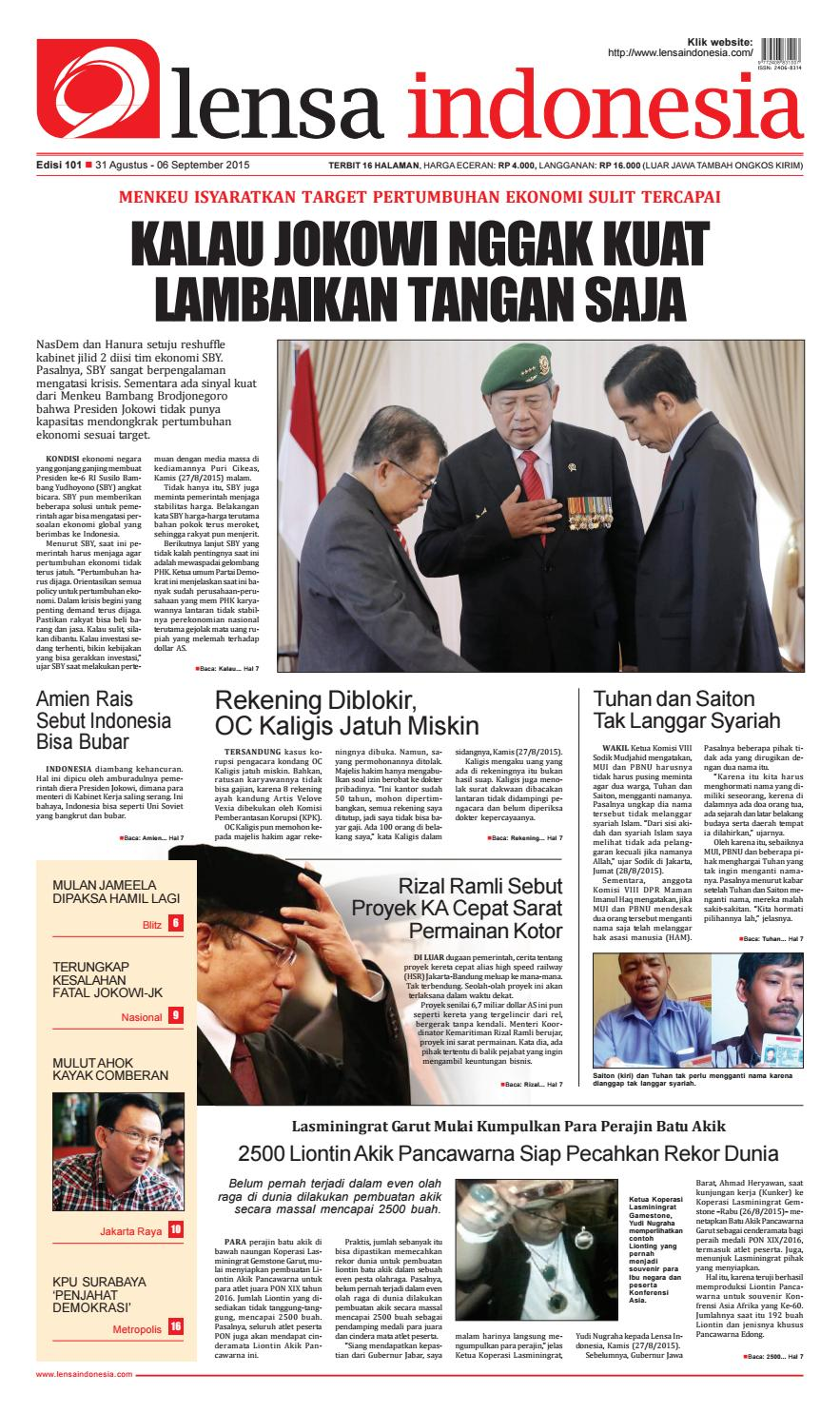 Koran Lensa Indonesia Edisi 101 by Koran Lensa Indonesia - issuu d24f08081f