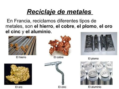 Reciclar metales by bruchet issuu - Hierro y aluminio ...