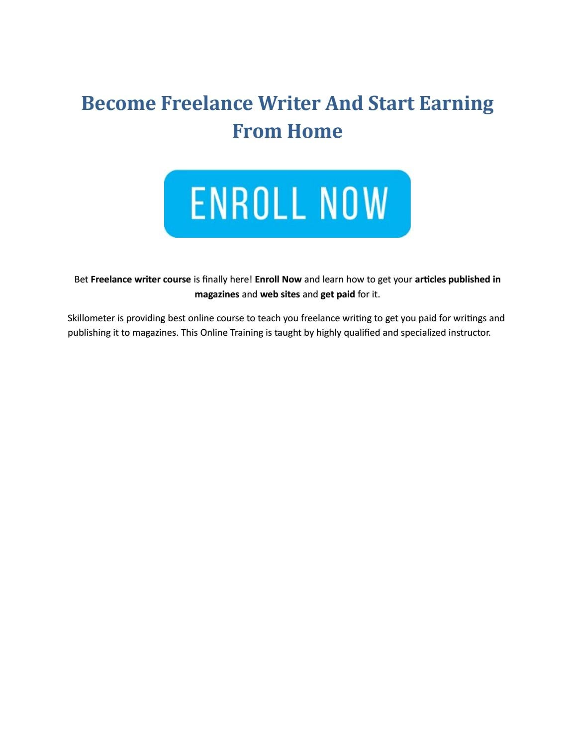 become lance writer and start earning from home by jose davis  become lance writer and start earning from home by jose davis issuu