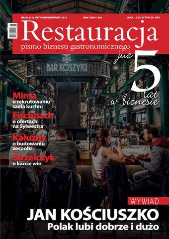Restauracja 06 2016 Listopad Grudzien By Polskie Wydawnictwa