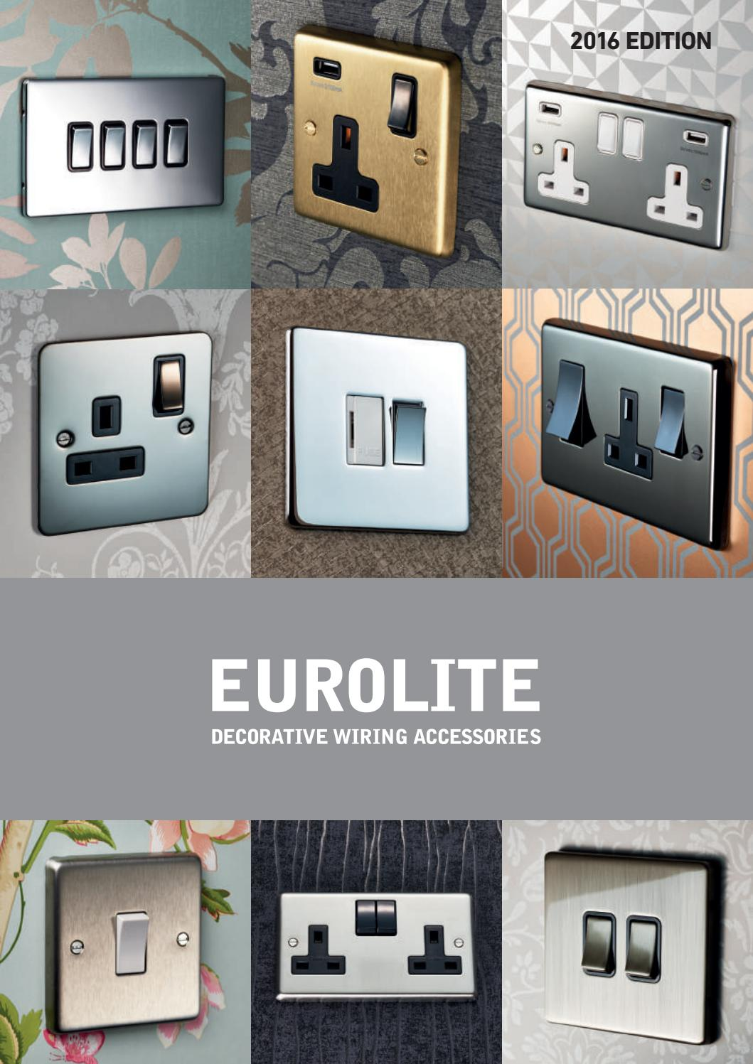 Eurolite Catalogue 2016 By Yuvilite Issuu Crabtree Wiring Accessories