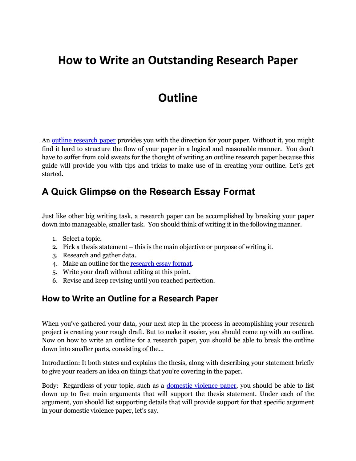 How to write a research paper thesis