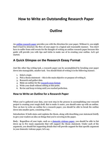 reasearch essay