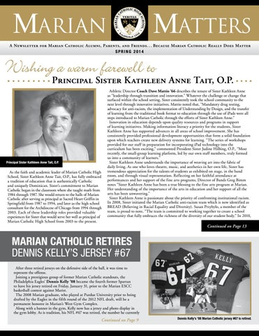 Marian Matters (Spring 2014) by Marian Catholic High School - issuu 26e1c4403
