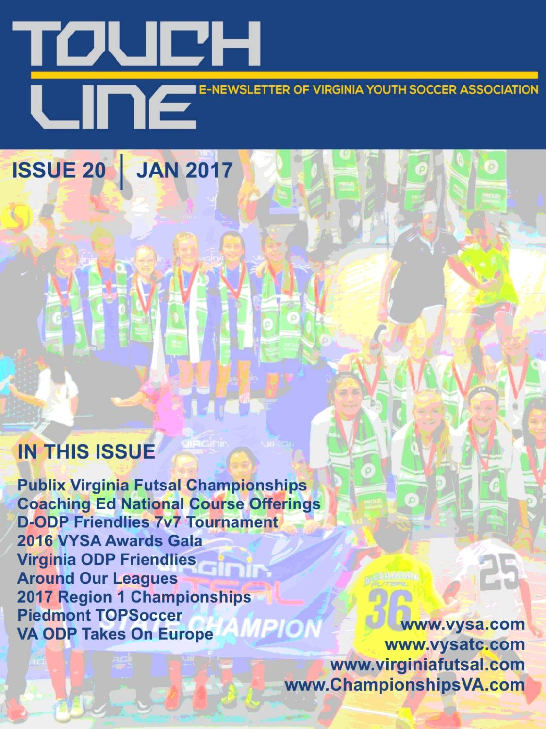 VYSA TOUCHLINE: ISSUE 20 JAN 2017 by VA Youth Soccer ...
