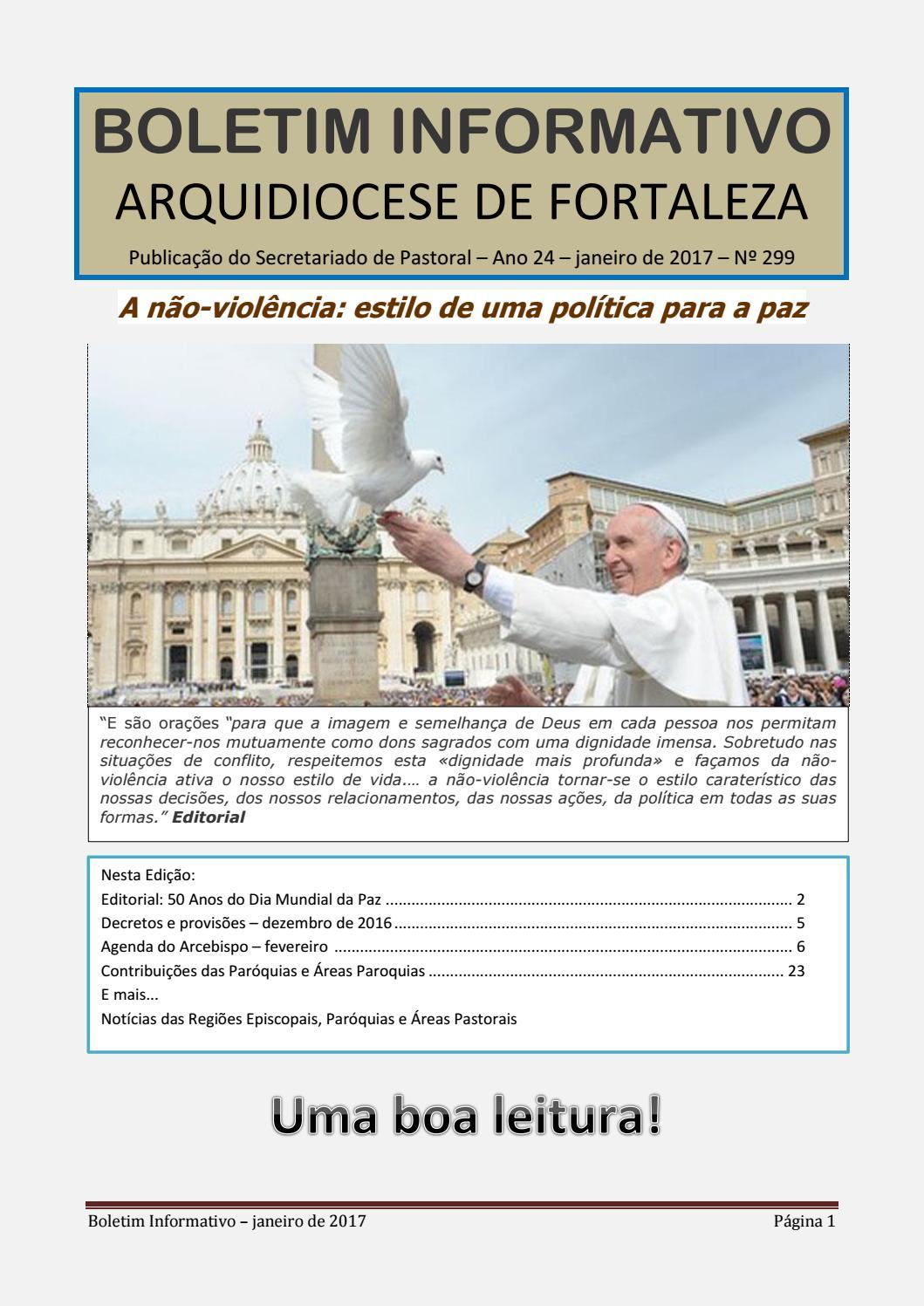 a10d9dd44ce Boletim informativo janeiro de 2017 by Arquidiocese de Fortaleza - issuu