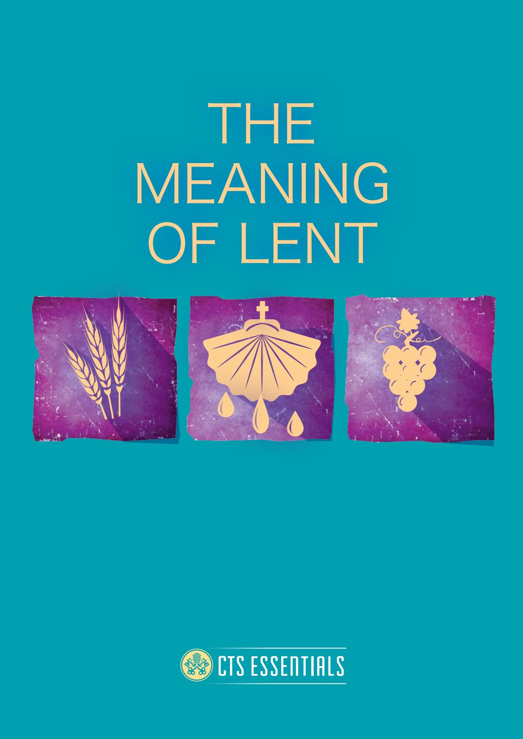 The Meaning Of Lent Leaflet Preview By Catholic Truth