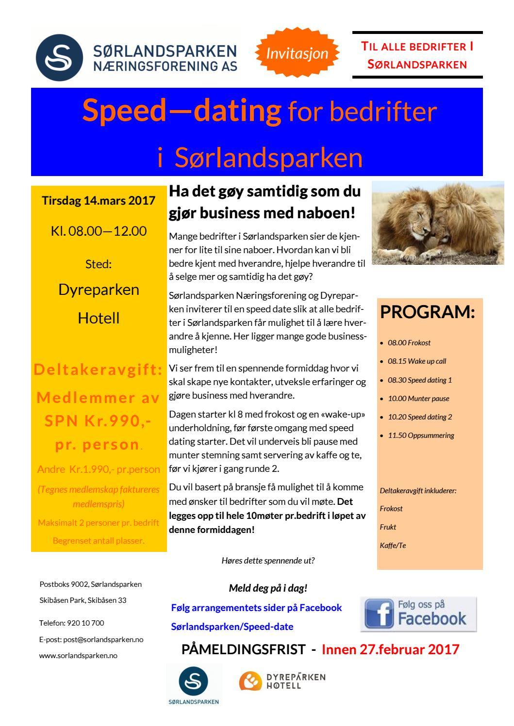 Hastighet dating invitasjon