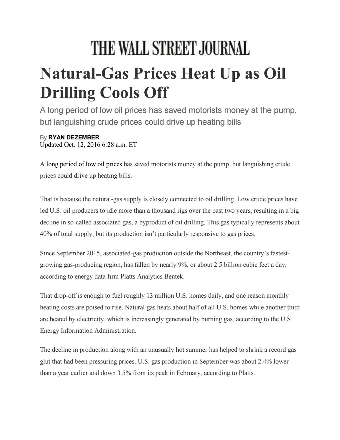 WSJ - NG Prices Heat Up by Templeton - issuu