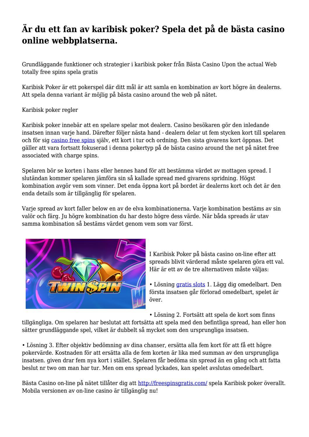 pokerspel på nätet Karlskoga