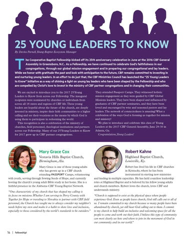 Page 14 of 25 Young Leaders to Know